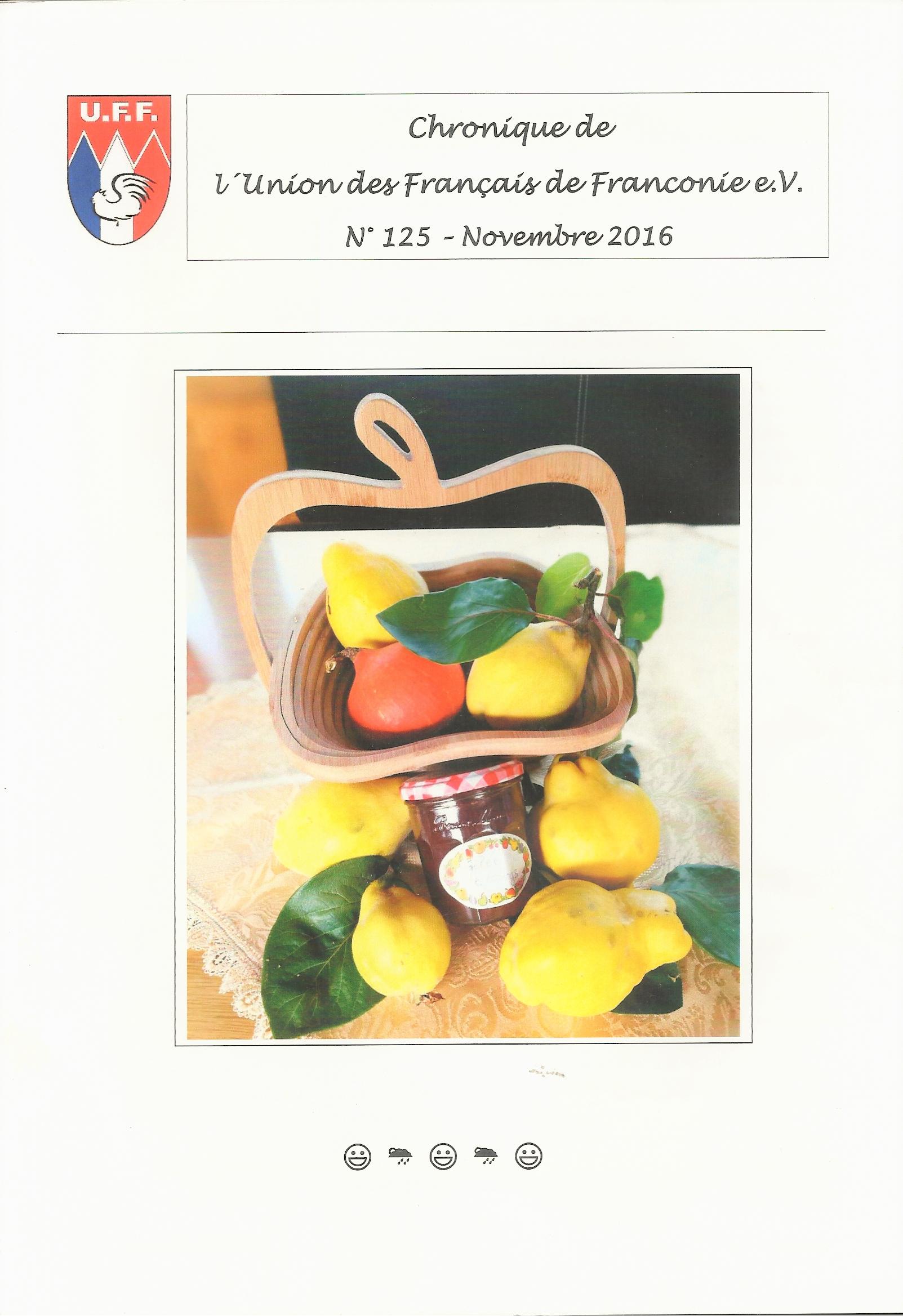 Chronique No 125 Novembre 2016